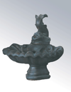 Small One Tier With Fish Cast Stone Outdoor Garden Fountain Fountain Tuscan