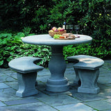 Palladio Cast Stone Outdoor Garden Table & Benches