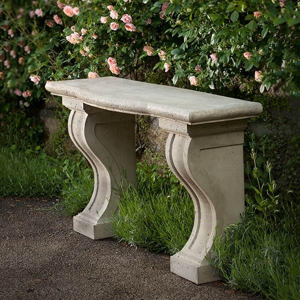 Loire Console Cast Stone Outdoor Garden Table Outdoor Benches/Tables Campania International