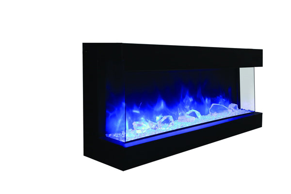 "Amantii 60"" unit - 14 1/4"" in depth 3 sided glass fireplace"