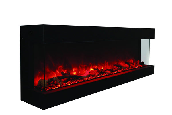 "Amantii 72"" unit - 14 1/4"" in depth 3 sided glass fireplace"