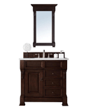 "Brookfield 36"" Burnished   Mahogany w/Drawers by James   Martin"