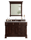 "Brookfield 48"" Burnished   Mahogany w/ Drawers by James   Martin"