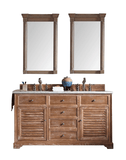 "Savannah 60"" Driftwood Double   Sink Bathroom Vanity by James   Martin"