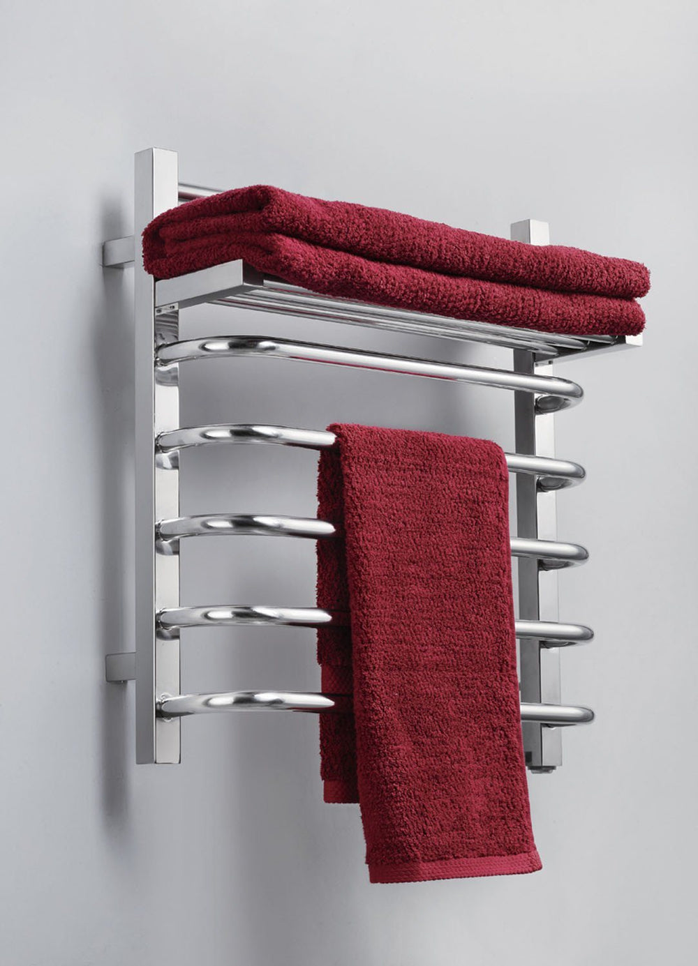Virtu USA Koze 118 Wall Mounted Electric Towel Warmer in Polished Chrome Towel Warmers Virtu USA