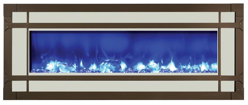 Amantii Mission style steel overlay for WM-BI-48-5823 Electric Fireplace Amantii