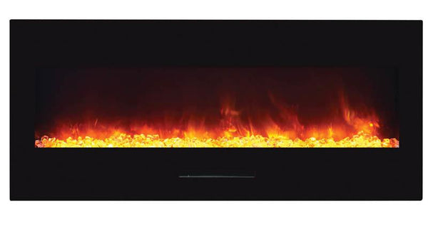 "Amantii 50""fireplace w/ blk surround,log set & 3 colors of media No Mood light"