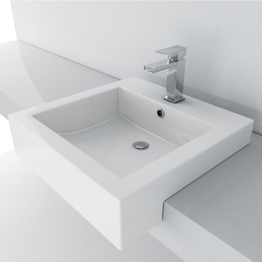 Cantrio Vitreous China semi recessed sink Ceramic Series Cantrio