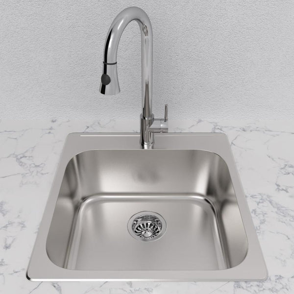 "Cantrio Single Bowl 20"" Stainless Steel undermount Kitchen sink"