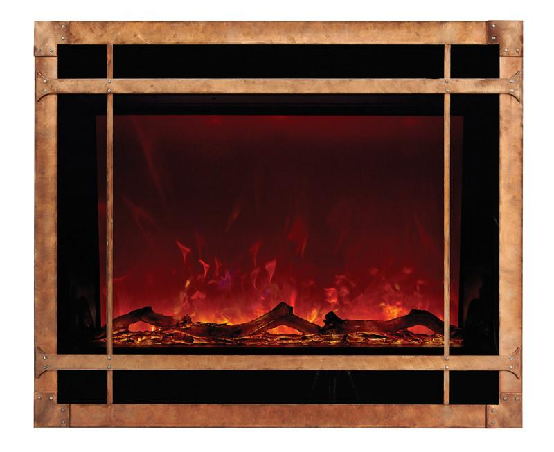 Amantii Mission style steel overlay only for ZECL-39-4134 Electric Fireplace Amantii