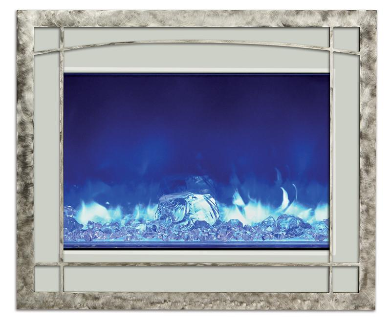 Amantii Blacksmith style steel overlayonly for ZECL-39-4134 Electric Fireplace Amantii