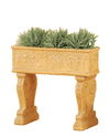 Adeline Maidens Planter Box with Legs Cast Stone Outdoor Garden Planter Planter Tuscan