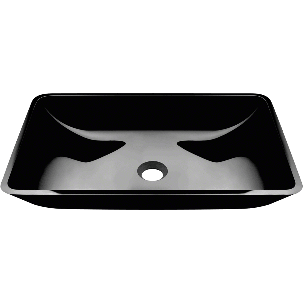 Polaris P046BL Colored Glass Vessel Bathroom Sink Bathroom Sink Polaris
