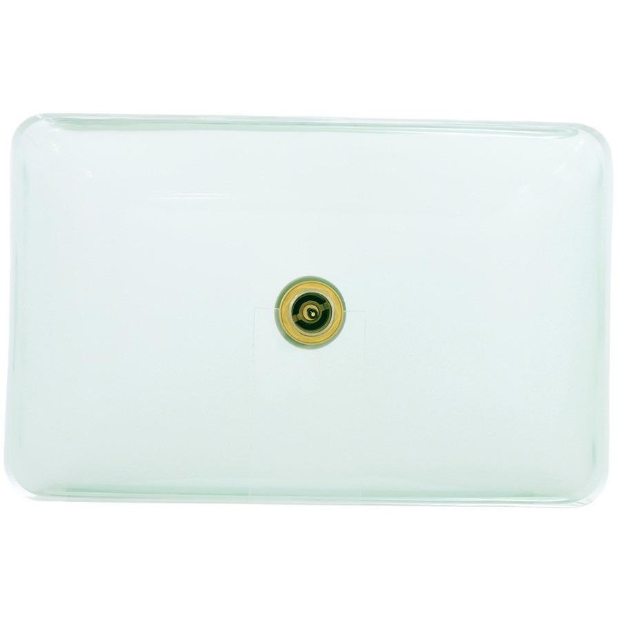 Polaris P046CR Glass Vessel Bathroom Sink Bathroom Sink Polaris
