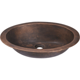 Bathroom Sink - Polaris P059 Single Bowl Bronze Bathroom Sink
