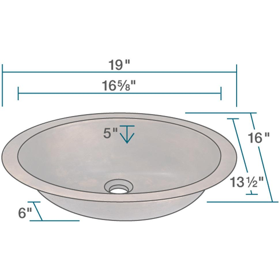 Polaris P059 Single Bowl Bronze Bathroom Sink Bathroom Sink Polaris