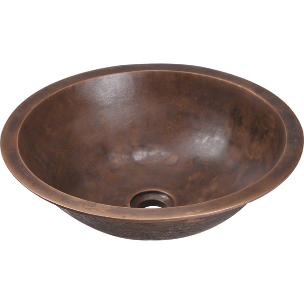 Bathroom Sink - Polaris P159 Single Bowl Bronze Bathroom Sink