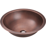 Bathroom Sink - Polaris P229 Single Bowl Copper Bathroom Sink