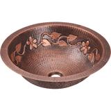 Bathroom Sink - Polaris P329 Single Bowl Copper Bathroom Sink