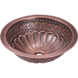 Bathroom Sink - Polaris P429 Single Bowl Copper Bathroom Sink
