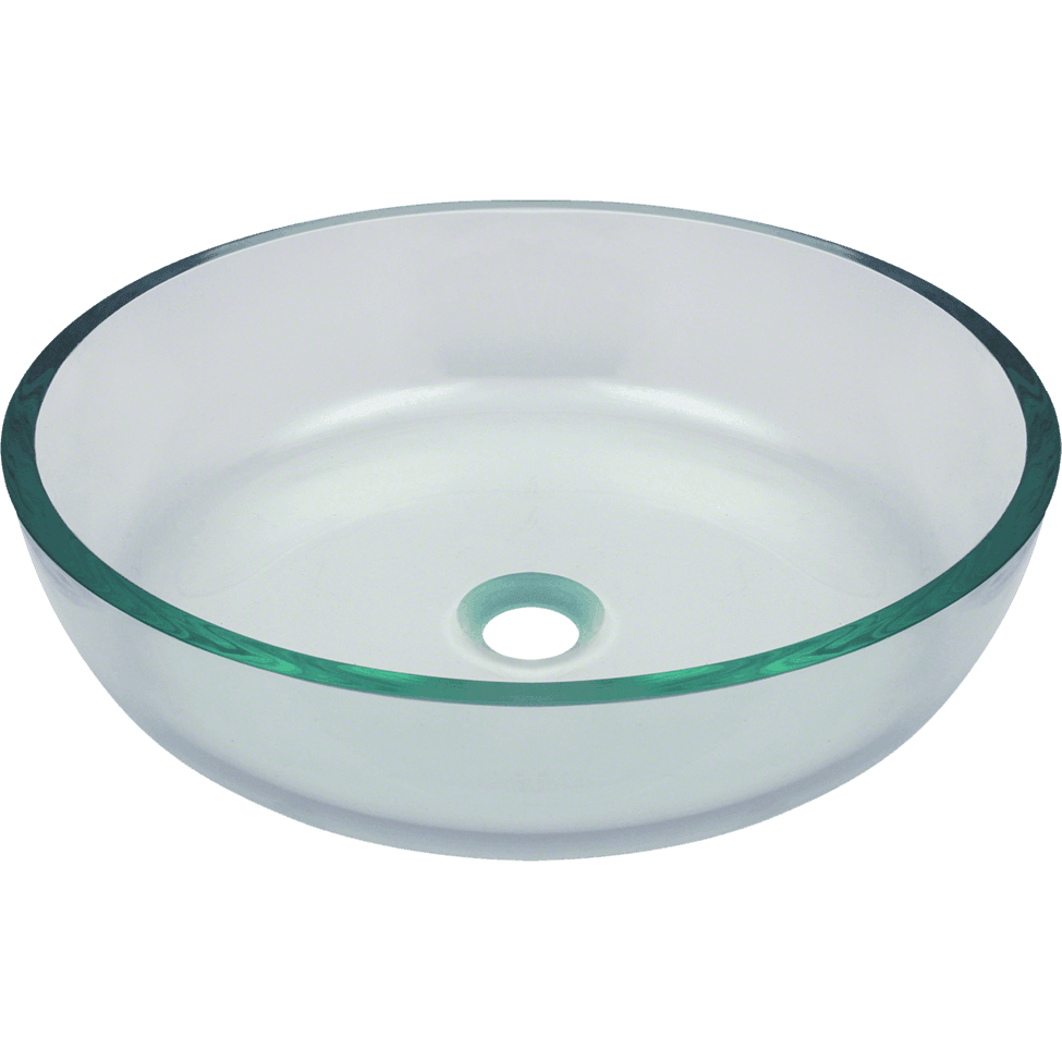 Polaris P526 Clear Glass Vessel Bathroom Sink Bathroom Sink Polaris