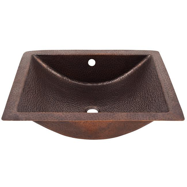 Solid Hand Hammered Copper Concave Undermount Lavatory Sink - Antique Copper Bathroom Sink The Copper Factory