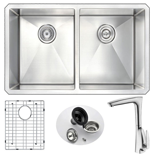 ANZZI VANGUARD Series K32192A-034B Kitchen Sink