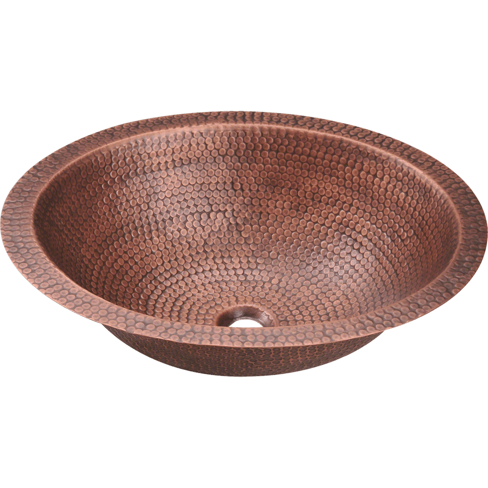 Polaris P019 Single Bowl Oval Copper Sink Bowl Sink Polaris