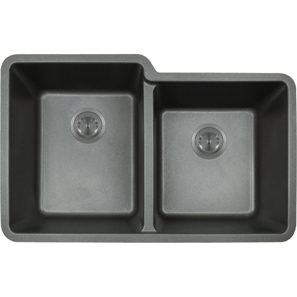 Polaris P108BL Double Offset Bowl AstraGranite Sink Bowl Sink Polaris