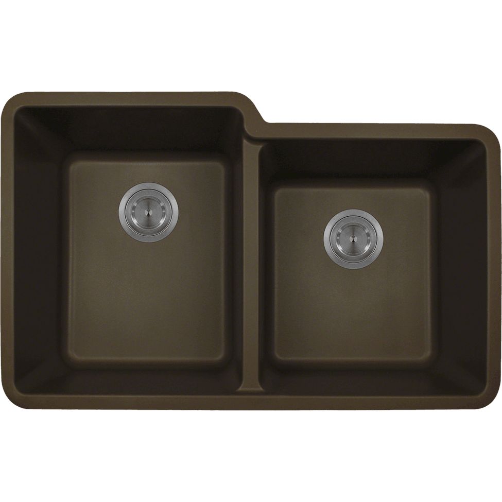 Polaris P108M Double Offset Bowl AstraGranite Sink Bowl Sink Polaris