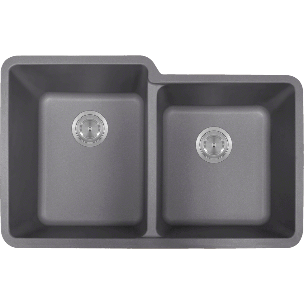 Polaris P108S Double Offset Bowl AstraGranite Sink Bowl Sink Polaris