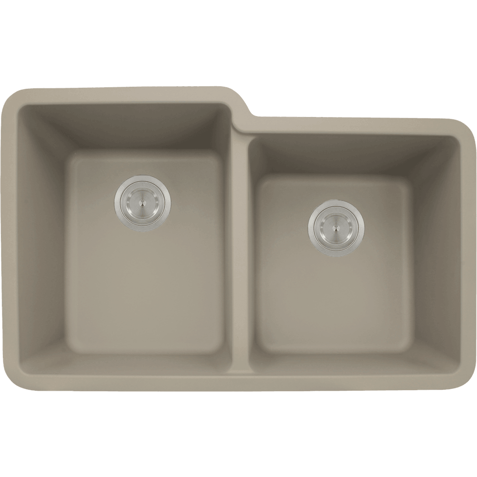 Polaris P108ST Double Offset Bowl AstraGranite Sink Bowl Sink Polaris