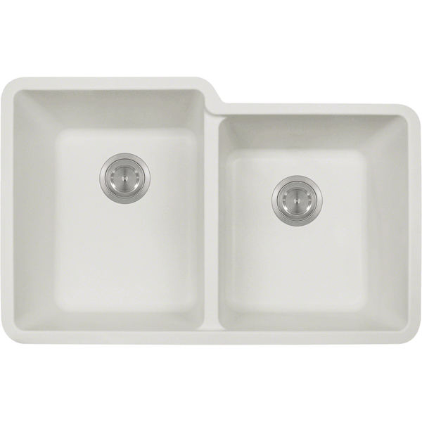 Bowl Sink - Polaris P108W Double Offset Bowl AstraGranite Sink
