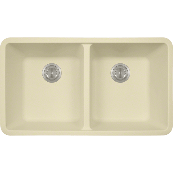 Bowl Sink - Polaris P208BE Double Equal Bowl AstraGranite Kitchen Sink