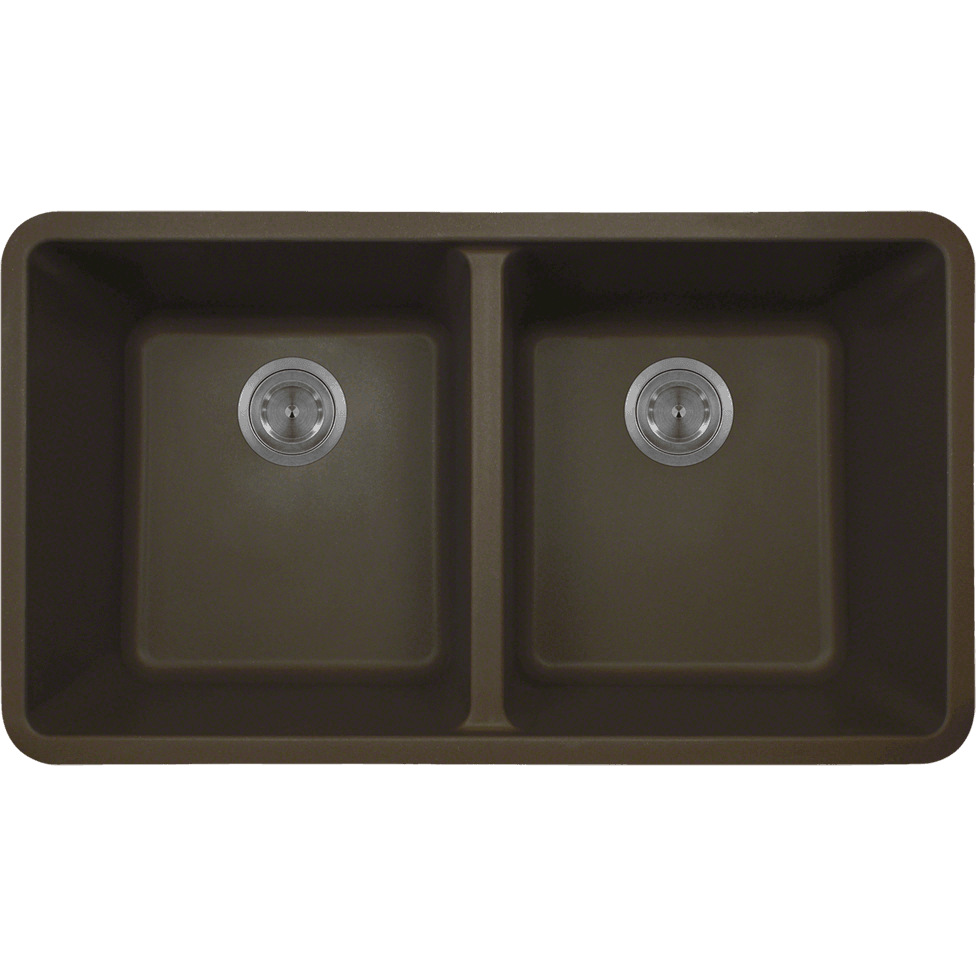 Polaris P208M Double Equal Bowl AstraGranite Kitchen Sink Bowl Sink Polaris