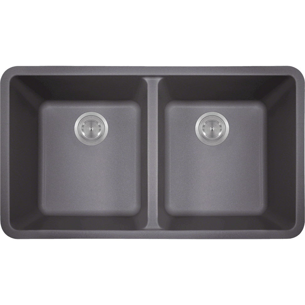 Polaris P208S Double Equal Bowl AstraGranite Kitchen Sink Bowl Sink Polaris