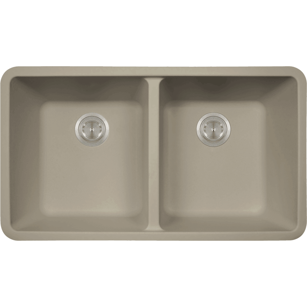 Polaris P208ST Double Equal Bowl AstraGranite Kitchen Sink Bowl Sink Polaris