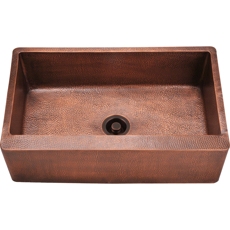 Polaris P319 Single Bowl Copper Apron Sink Bowl Sink Polaris