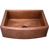 Bowl Sink - Polaris P419 Single Bowl Copper Apron Sink