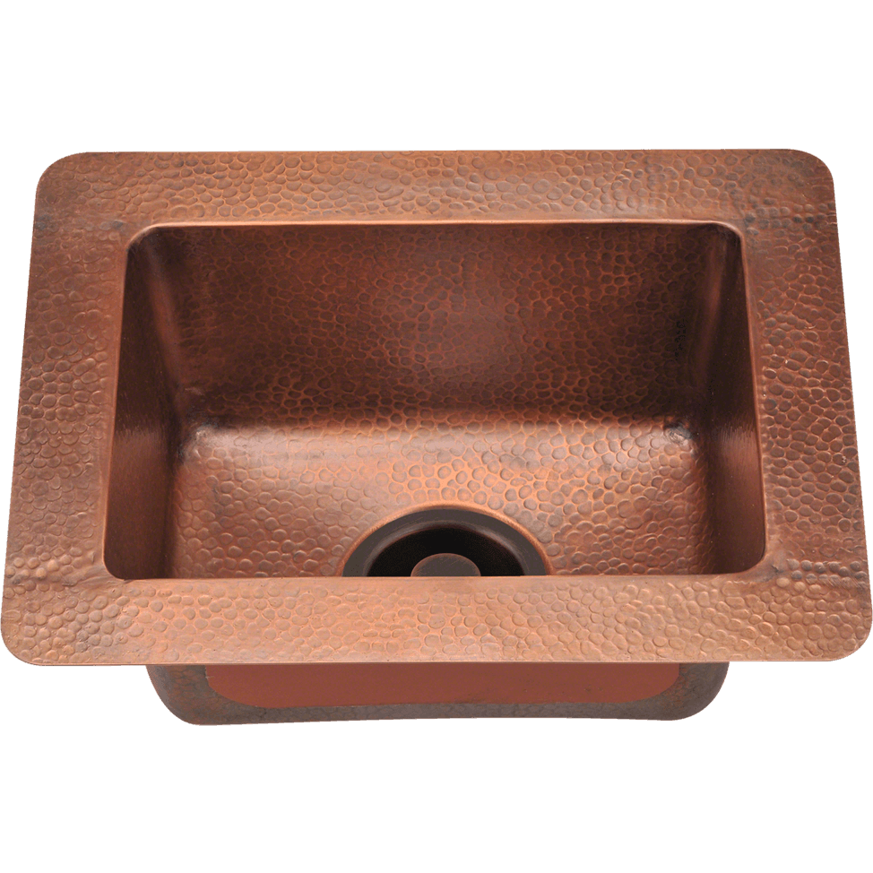 Polaris P509 Small Single Bowl Copper Sink Bowl Sink Polaris