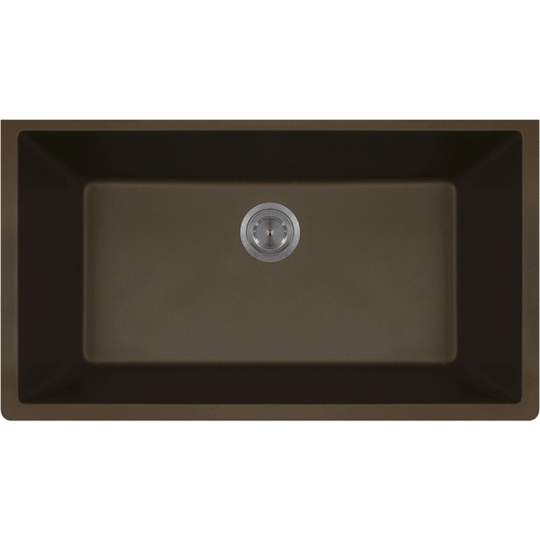Bowl Sink - Polaris P848M Large Single Bowl Undermount AstraGranite Kitchen Sink