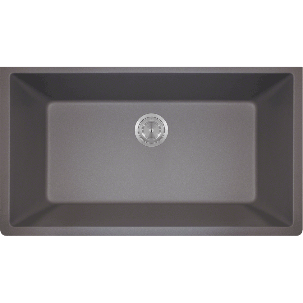 Polaris P848S Large Single Bowl Undermount AstraGranite Kitchen Sink Bowl Sink Polaris