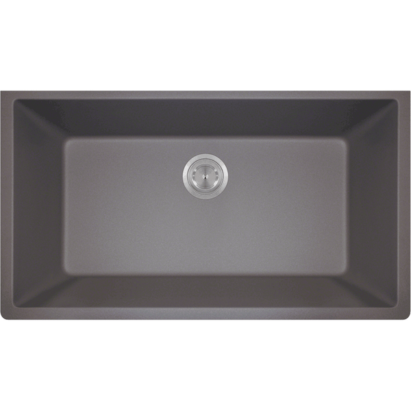 Bowl Sink - Polaris P848S Large Single Bowl Undermount AstraGranite Kitchen Sink