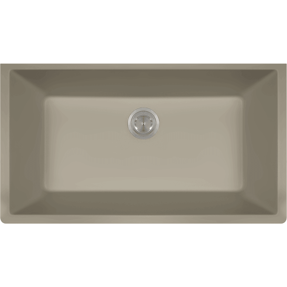 Polaris P848ST Large Single Bowl Undermount AstraGranite Kitchen Sink Bowl Sink Polaris