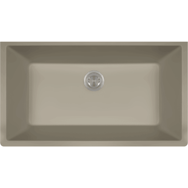 Bowl Sink - Polaris P848ST Large Single Bowl Undermount AstraGranite Kitchen Sink