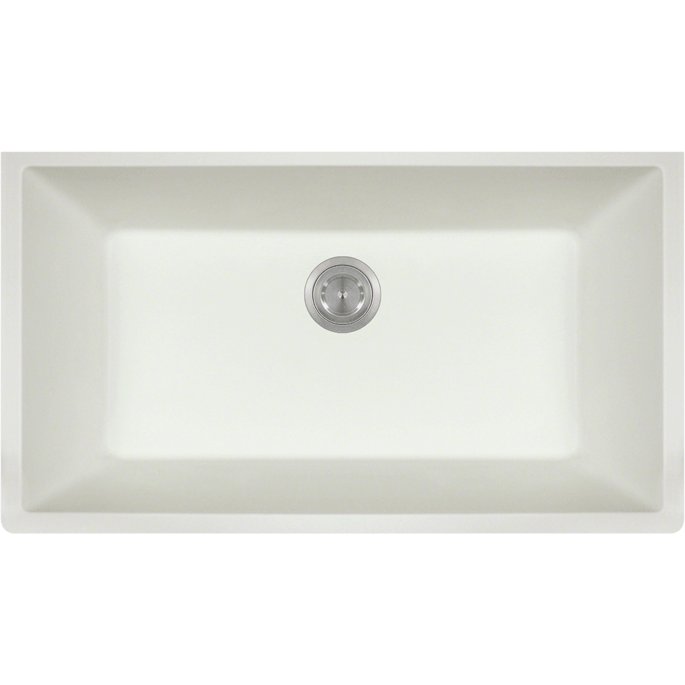 Polaris P848W Large Single Bowl Undermount AstraGranite Kitchen Sink Bowl Sink Polaris