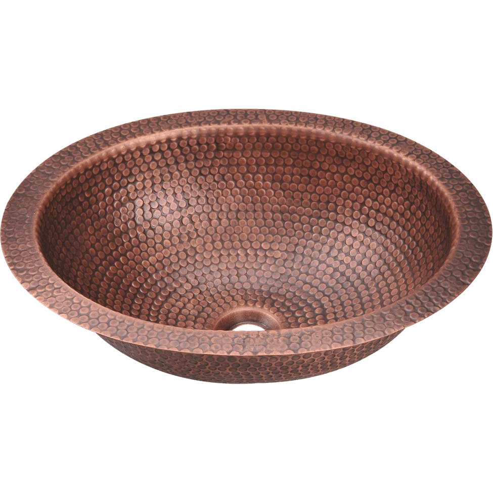 Polaris P909 Single Bowl Oval Copper Sink Bowl Sink Polaris