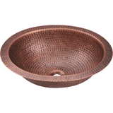 Bowl Sink - Polaris P909 Single Bowl Oval Copper Sink