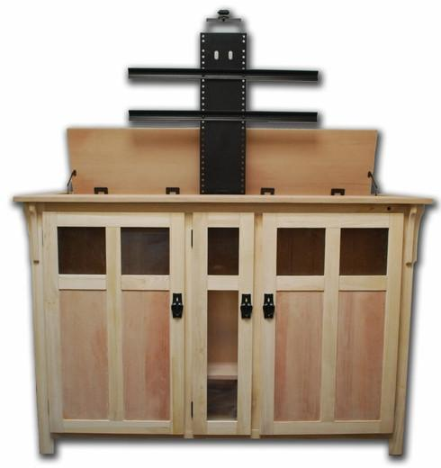 "Touchstone Bungalow Unfinished Full Size Lift Cabinets For Up To 60"" Flat Screen Tv'S Tv Lift Cabinets Touchstone"