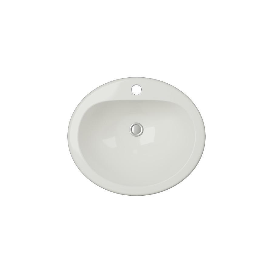 Cantrio Vitreous China top mount sink Ceramic Series Cantrio